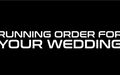 The Perfect Running Order For Your Wedding